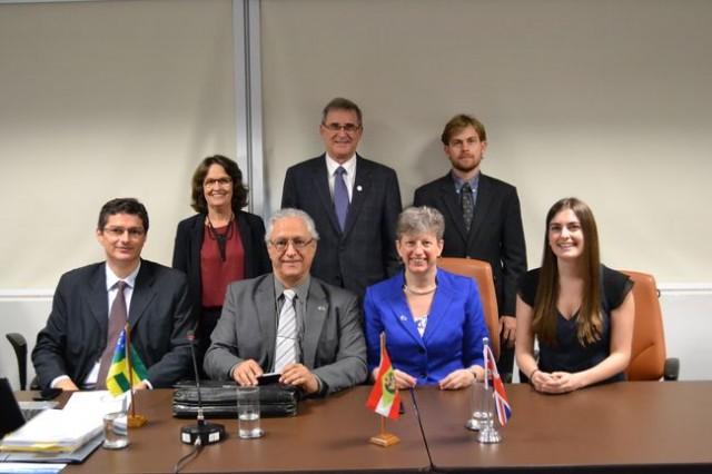 Representantes do Fundo Newton prestigiaram o Fórum do CONFAP nesta semana (Foto: André Martins / Fundect)