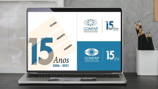 Selo comemorativo - Confap 15 anos